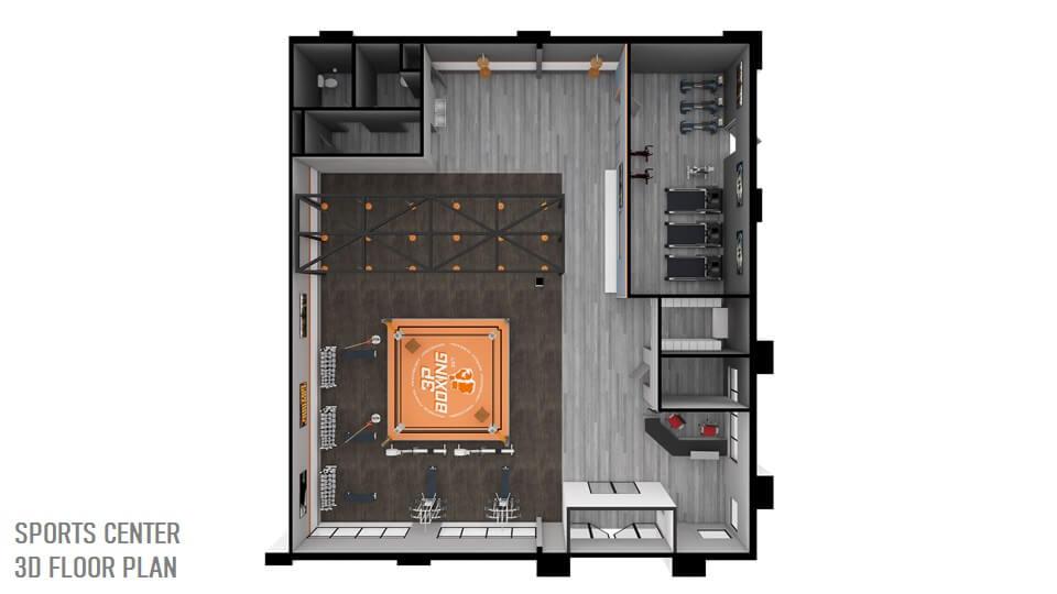 SPORTS CENTER 3D FLOOR PLAN