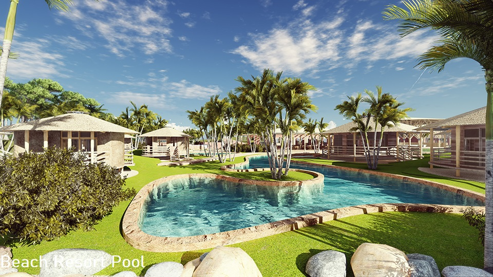 Beach Resort Pool View